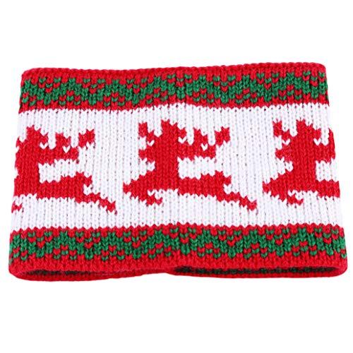 Elch Weihnachten Gestrickte Wolle Cup Set ()