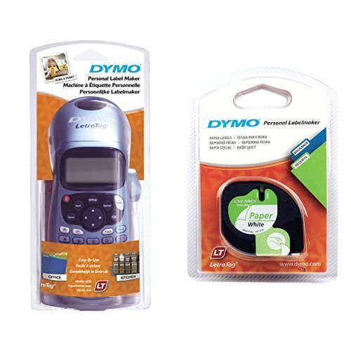 dymo-letratag-lt-100h-plus-label-maker-abc-keyboard-and-letratag-labelling-tape-of-12-mm-x-4-m-paper