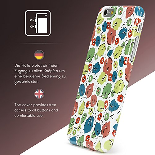 Urcover® Apple iPhone 6 Plus / 6s Plus Hülle mit Blumenmuster Design 5 Handy Schutz-Hülle Floral TPU Cover Schale Flexibel Silikon-hülle Back-Case Handy Smartphone Zubehör Design 17