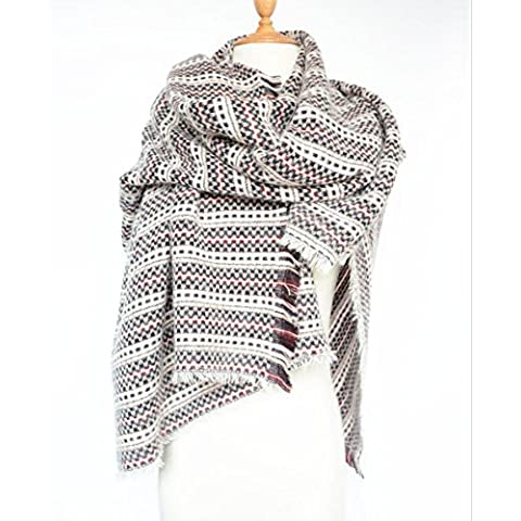 Autunno/inverno frange sciarpa donna Sciarpe caldo spessore lungo bi-fold portafogli . 4