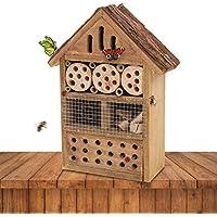 Gardigo 90538 - Hotel para Insectos; Madera Natural, Nido Refugio Casa para Abejas Mariposas Mariquitas; Control de Plagas
