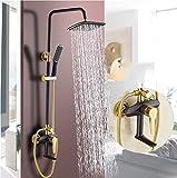 Antiquität Alle Kupfer Schwarz Duschset Wandtyp Badewanne Wasserhahn