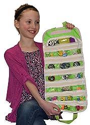 Easyview Shopkin Toy Organizer Green Shopkins Hotwheels Matchbox Compatible