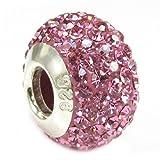 Best Queenberry Charms Pandora Charm Bracelets style - Breloque ronde de style européen en argent massif Review