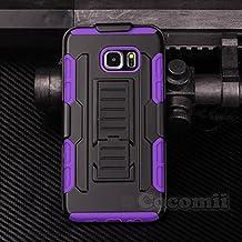 Galaxy S6 Edge Plus Carcasa, Cocomii® [HEAVY DUTY] Galaxy S6 Edge Plus Robot Case **NUEVO** [ULTRA FUTURO ARMOR] Premium Funda Con Clip Para Cinturón Pata De Cabra Kickstand Bumper Case [DEFENSOR MILITAR] De Todo El Cuerpo Híbrido Doble Capa Resistente Cubierta Protectora Cover Bumper Case [COCOMII GARANTÍA] ::: La Mejor Protección Frente A Caídas Y Las Repercusiones De Su Samsung Galaxy S6 Edge Plus ::: ★★★★★ (Black/Purple)