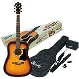 Ibanez V50NJP-VS Jampack pack guitare acoustique avec kit d'accessoires, Sunburst