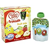 Vache Et Porte Cocktail De Fruits De 4-36 Mois 4 Sachets X 90G
