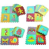 10estuco 30* 30* 1cm Puzzle Esterilla Alfombrilla Espuma gatear para pädago Estratégica Aprendizaje Alfombra Fur Baby - Peluches y Puzzles precios baratos