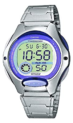 Casio Collection – Reloj Mujer Digital con Correa de Acero Inoxidable – LW-200D