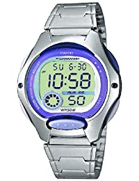 Casio Collection – Reloj Mujer Digital con Correa de Acero Inoxidable – LW-200D-6AVEF