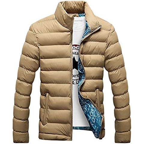 Hombres Caliente Abrigo con capucha sudadera abrigo anorak invierno chaqueta abajo Negro