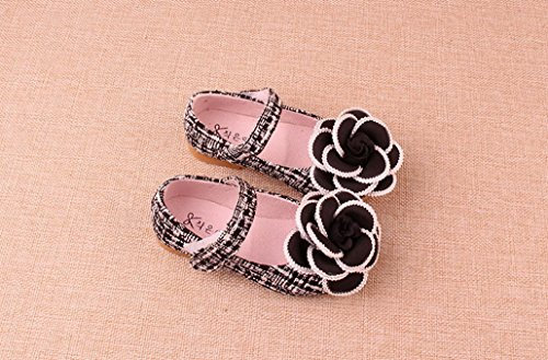 Evedaily Chaussures Princesse Mocassins Confortable pour Enfant Bebe Fille pour Printemps Été Automne Noir