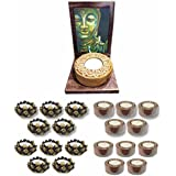 TYYC Diwali Gifts Karana Mudra Positivity Lord Buddha Stone Tealight Holder Gift Combo 101 T-lite Holders Diwali Decoration Candle Lights For Puja, Home, Office