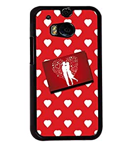 Fuson Love Pattern Back Case Cover for HTC ONE M8 - D3656