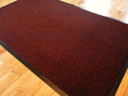 Big Extra grande rojo y negro barrera Mat con bordes de goma resistente antideslizante entrada cocina salón corredor alfombra alfombrillas 120x 180cm (6x 4ft) por Rugs 4Home