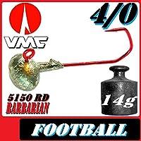 VMC anzuelos anzuelos plomados Football de huevos de tamaño 4/014g 5unidades en Set con VMC Barbarian 5150RD Ganchos