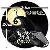 Pesadilla Antes De Navidad The Nightmare Before Christmas Tim Burton B Alfombrilla Redonda Round Mousepad PC