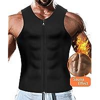Faja Reductora Adelgazante Hombre Neopreno Camiseta Reductora Compresión de Sauna Chaleco para Desarrollo Muscular Pérdida de Peso con Quema Grasa Deportivo (Negro, XXXL)