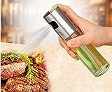 BoomYou Kochen Spray Flasche Olivenöl und Kochen Balsamico Essig Soja Sauce Wein Spray Premium 304 Edelstahl Grillen Öl Flasche 100ml für Kochen Salat Brot Backen Barbecue Injector
