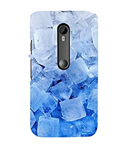 printtech Abstract Pattern Ice Cubes Back Case Cover for Motorola Moto G3 / Motorola Moto G (3rd Gen)