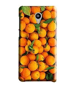 Hi-Me Designer Phone Back Case Cover Meizu M3 Note :: Meizu Note 3 ( Love Fruit Orange of Life )