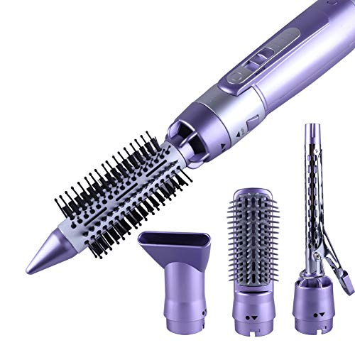 4 en 1 Pro Hair Hot Brush/Hair Styler Curling Stick, Hair Comb Brush Straight/Styling Tool Beauty Set