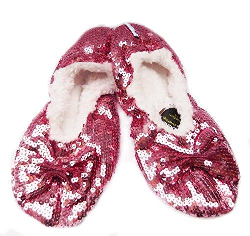 Snoozies , Damen Hausschuhe Bling Pink
