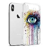 Eouine Coque iPhone XS Max, Etui en Silicone 3D Transparente avec Motif Peinture...
