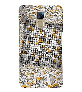 Vizagbeats Paper checks Back Case Cover for Huawei Honor7