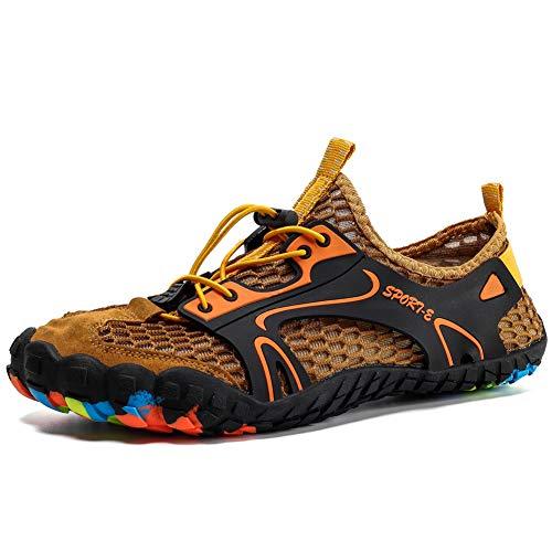 Scarpe da Immersione Donna Uomo Scarpe Barefoot Asciugatura Rapida Unisex Water Shoes Marrone 44