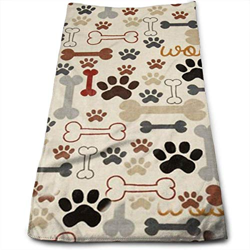 Ultra Dish Rack-set (Dog Bones Paw Prints Multi-Purpose Microfiber Towel Ultra Compact Super Absorbent and Fast Drying Sports Towel Travel Towel Beach Towel Perfect for Camping, Gym, Swimming.)
