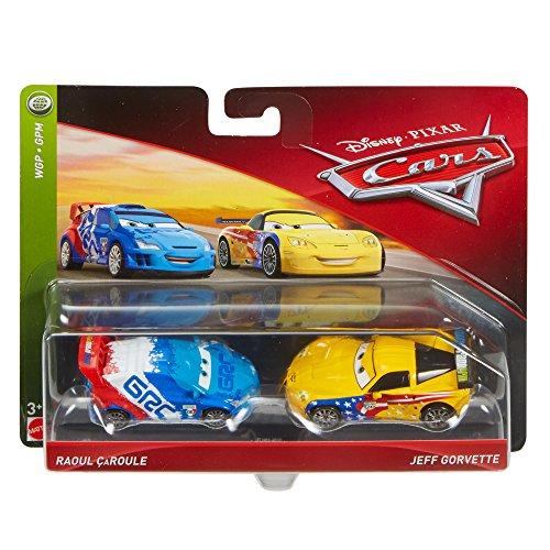 Hot Wheels FLH63 Disney Cars Character Raoul Caroule & Jeff Gorvette