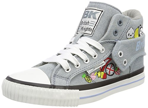Skater High Schuhe Tops (British Knights Damen ROCO Hohe Sneaker, Grau (Lt Blue), 41 EU)