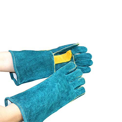 LCHEV Schweißhandschuhe/Leder Arbeitshandschuhe/mikrowelle hochtemperaturbeständige allgemeine Handschuhe