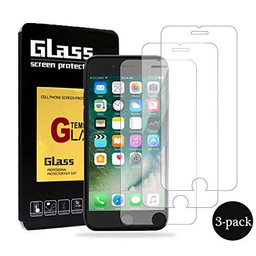 Verre Trempé pour iPhone 7 / 8, Hanbee [lot de 3] Film Protection en Verre trempé écran Protecteur vitre pour iPhone 7 / 8, 99%HD, Dureté de 9H, Épaisseur de 0,33mm