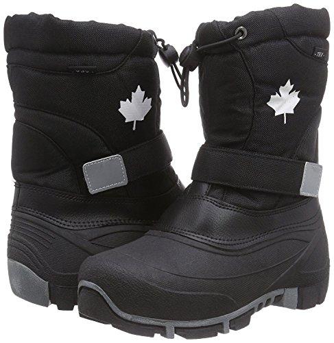 Canadians Indigo 467 185 Hiver Neige Bottes Doublure Polaire Unisexe en 6 couleurs Noir