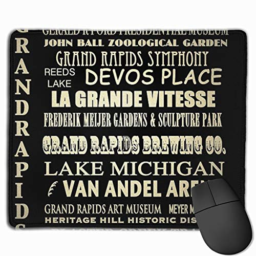 Grand Rapids Famous Landmarks Mouse Pad Rectangle Non-Slip Rubber Mousepad Gaming Mouse Pad 30 Cm X 25 Cm