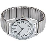 SUNXIN Pulsera analógica, reloj de pulsera de arte,Pulsera de acero inoxidable,Decoracion,Regalo,Carcasa de aluminio,Movimien