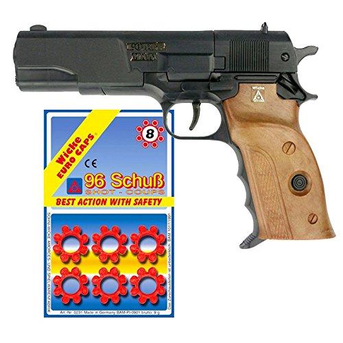Powerman 8-Schuss Pistole Agent 220mm mit 96 Schuss Munition Pistole Revolver
