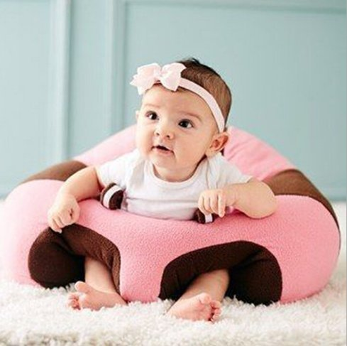 Okayji Cotton Baby Support Sitting Cushion Chair (Pink)