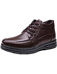 Aemember scarpe di cotone maschio guida alta scarponcini e scarpe invernali Business Casual Scarpe Uomo Scarpe Nero ,38,