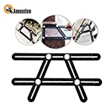 Amenitee–angolatore-righello universale. Angolatore multi-angolo in lega di alluminio. Righello multiuso. Colore: nero