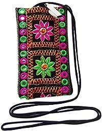 Ethnische Bewegliche Beutelkupplungsfrauenhandtasche Hippiekreuzkörper Bestickte Geldbeutelbeutel