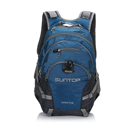 Suntop Spectre 35 Litres Large Sized(with Raincover) Casual Backpack Bag For School/College/Office with Laptop Padding(Airforce Blue & Grey)