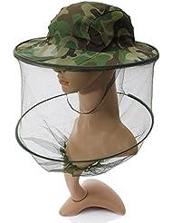 Lelantus Camuflaje sombrero mosquito malla mujeres hombres Midge casquillo de la pesca cubo insecto