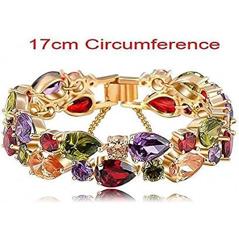 pigglyville (TM) braccialetti e bracciali 2016nuovo design colorato AAA Zircon Bracciale oro/Placcato oro rosa 18K braccialetto da donna Fashion Jewelry cbr0004, 3