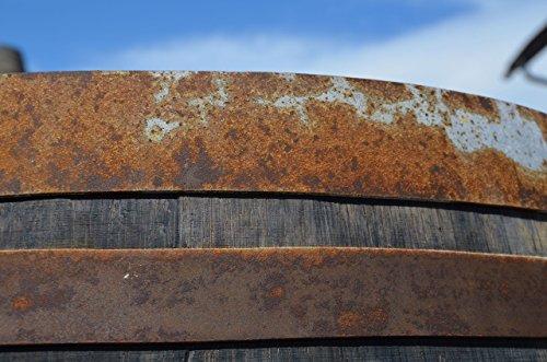 Temesso Stehtisch Tisch aus Holzfass, Gartentisch Weinfass, Fass, Barrique Tisch aus Eiche Holz rustikal 225 Liter