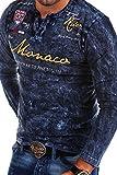 MT Styles Vintage Longsleeve VT-MONACO T-Shirt R-7295 [Dunkelblau, L]