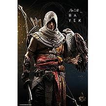 Póster Assassin's Creed Origins - (61cm x 91,5cm) + 2 marcos transparentes con suspención