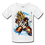 T-shirt enfant goku super saiyan kameha dragon ball dbz manga